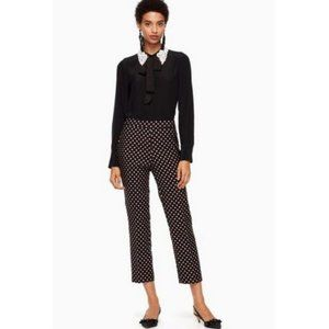 Kate Spade Diamond Cigarette Copped Pants Size 00